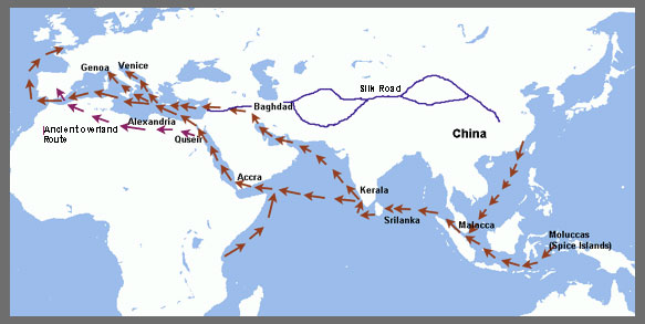 Image result for ancient spice trade routes