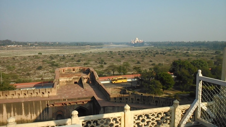 View of Taj from Agra Fort
