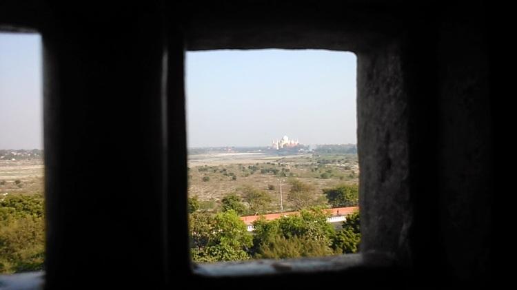Window to see Taj