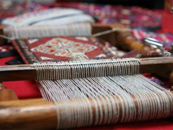 Handloom -loom and making