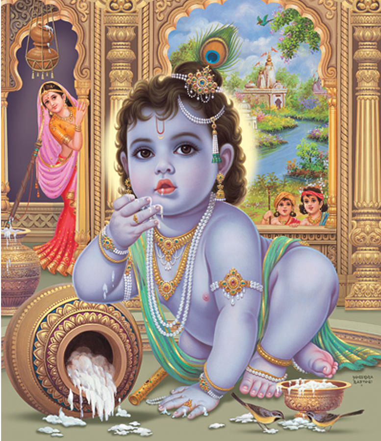 baby-krishna-eating maakhan