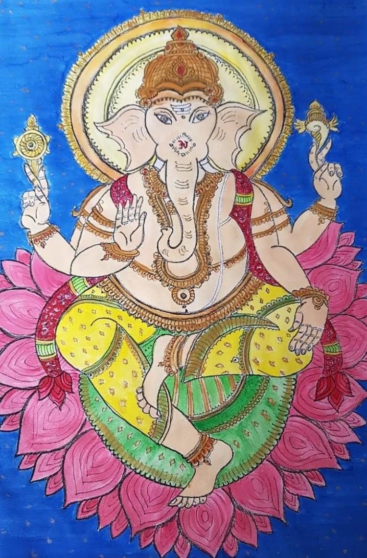 Kerala Mural Ganesha.jpg