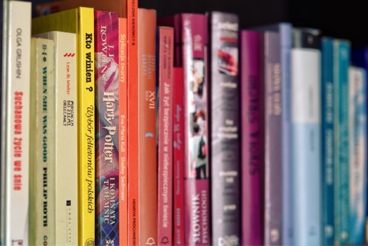 row-of-colorful-books-on-shelf