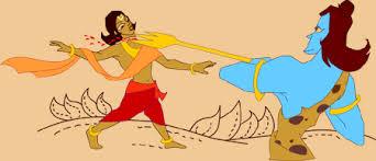 Shiva beheading Ganesha