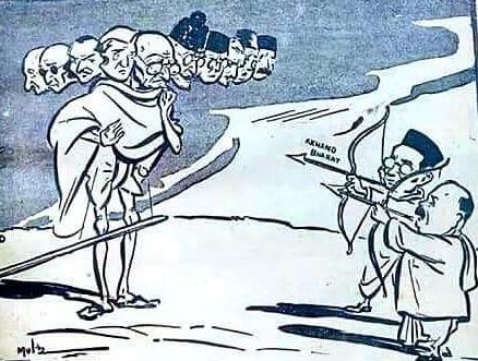 Gandhi as Ravana cartoon.jpg