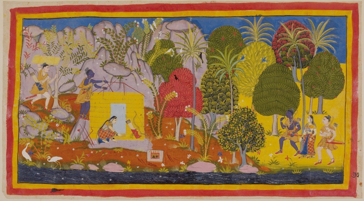 Ramayana miniatures - many plants and trees.jpg